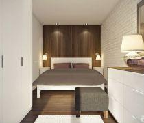 最新美式风格110-120平米室内卧室床的摆放
