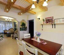 80-90平米房屋室内生态木吊顶装修图片