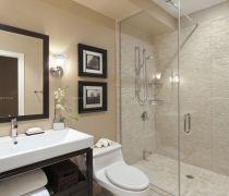 90平方米的房子卫生间淋浴隔断装修图片欣赏