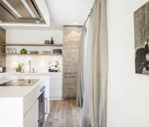 家装60多平米房子厨房用品置物架装修图片大全