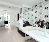 80多平米便宜的家装壁纸装修效果图欣赏