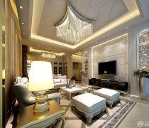 最新70-80平米房屋客厅吊顶灯装修效果图
