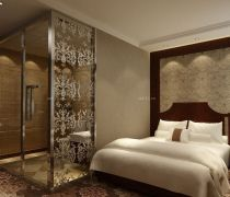 最新70-80平米房屋浴室艺术玻璃隔断装修效果图