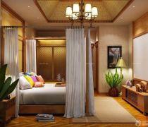 最新70-80平米房屋卧室隔断帘装修图片
