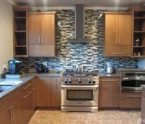 2020个性厨房设计图厨房瓷砖贴图设计