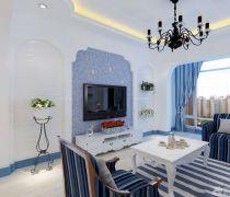 地中海风格80平米的房子装修图片