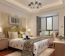 70平米房最省钱的装修主卧室窗帘效果图