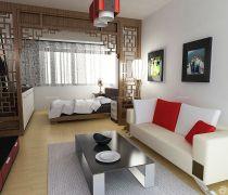 70平米房最省钱的装修客厅木质隔断图片大全