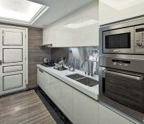 70平米房最省钱的装修厨房白色橱柜装修效果图片