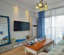2020地中海风格70平米小三房客厅如何装修