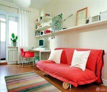 简约60平米两居室沙发床装修实景图欣赏