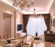 50平米的房子客厅窗帘装修图