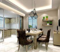 2020最新90平方房子厨房餐厅隔断装修设计图片