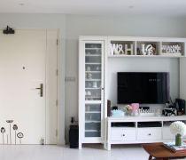 简约60平米房子电视背景墙怎么设计装修