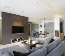 140平方米的房子简约事项客厅隔断墙装修效果图欣赏