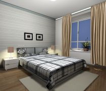 住房室内卧室窗帘装饰效果图欣赏