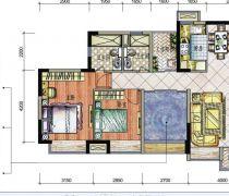 有可变空间四房一厅设计图欣赏
