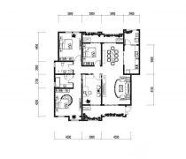 超好户型四房一厅设计图欣赏
