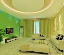 80平米的彩色客厅房子如何装修
