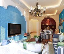 最新地中海风格家具80个平方的房子装修效果图