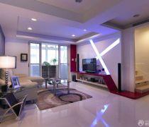 复式80个平方的房子客厅楼梯装修效果图