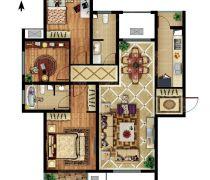超好户型三房两厅户型图设计