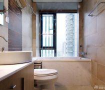 小户型浴室理石包裹浴缸装修效果图