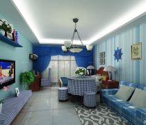 40-50平方小户型地中海风格装修样板间大全