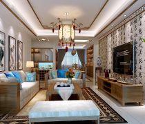 140平米20万家庭中式装修效果图片大全
