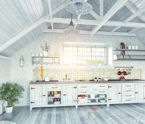 我的世界别墅厨房木质吊顶设计图