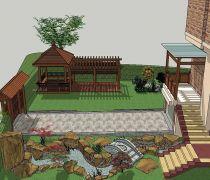 别墅景观庭院大门设计图纸