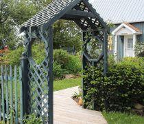 别墅庭院门口大门设计效果图