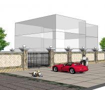 别墅庭院围墙大门设计图纸