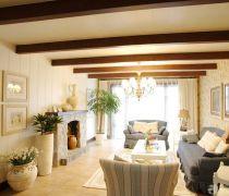 客厅有梁吊顶设计装修效果图片