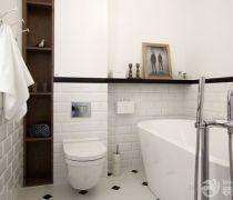 卫生间浴室入墙式马桶装修图片大全