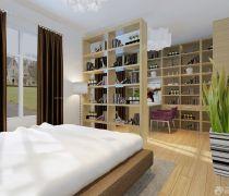 温馨卧室木隔断装修效果图想