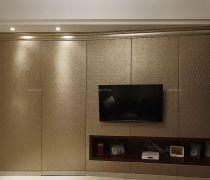 有隐形门的卧室电视背景墙效果图