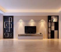 时尚客厅有隐形门的电视背景墙装修效果图片