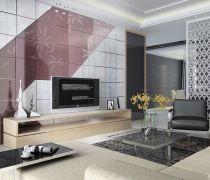 有隐形门的现代电视背景墙效果图
