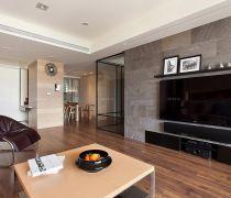 普通房子空调磁砖的电视背景装修效果图