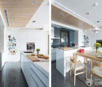 厨房的木质吊顶装修设计效果图片