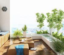 客厅宽阳台榻榻米设计装修效果图