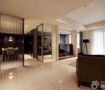 好看的客厅米白色地砖装修效果图片