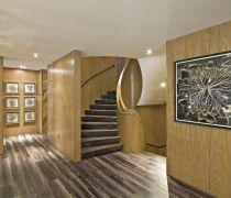 现代公司楼梯间防滑地板砖设计图片
