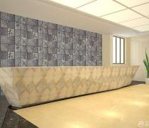 简约公司石材背景墙效果图