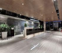 简约公司石材背景墙效果图片
