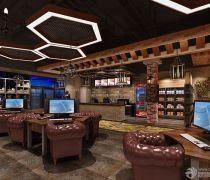 最豪华的网吧大厅吊灯装修效果图片欣赏