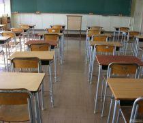 小学学校教室书桌设计摆放效果图图片