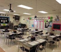 学校小学教室储物柜摆放效果图图片