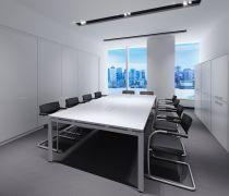 清新的会议室不做吊顶效果图片